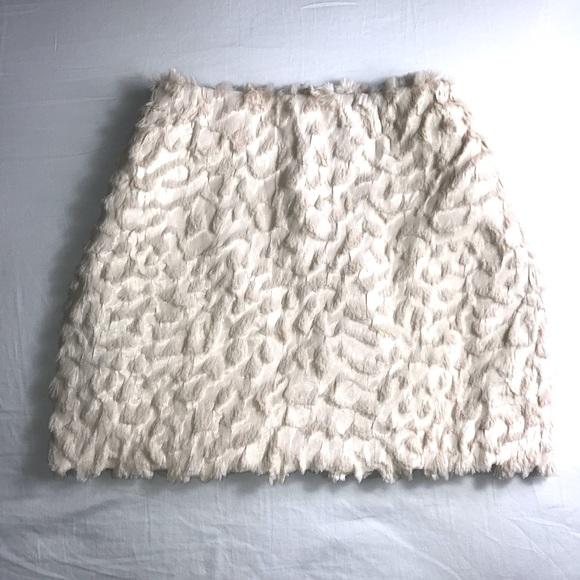H&M | Leopard Satin & Fur Texture Skirt
